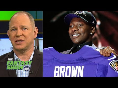 Top-5 rookie fantasy WRs include Ravens' Marquise Brown, Chiefs' Mecole Hardman | The Fantasy Show
