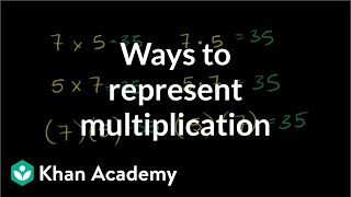 Example: Ways to represent multiplication | Multiplication and division | Arithmetic | Khan Academy