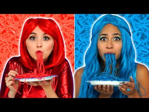 THE SUPER POPS RED FOOD VS BLUE FOOD CHALLENGE Totally TV s for Teens