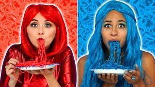 Baixar THE SUPER POPS RED FOOD VS BLUE FOOD CHALLENGE. Totally TV Videos for Teens.