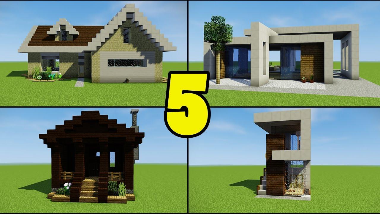 Minecraft Creative Tips Tricks: Top 5 Beginner Houses For Minecraft Builders