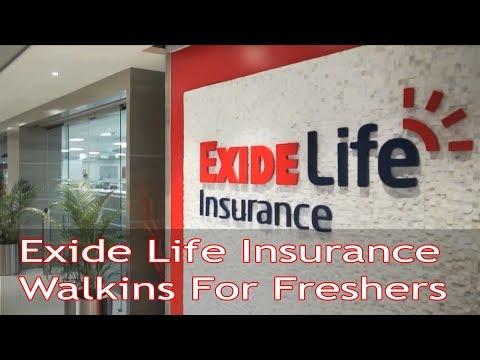 Exide Life Insurance Walkin Interviews   Freshers   PDTV JOBS