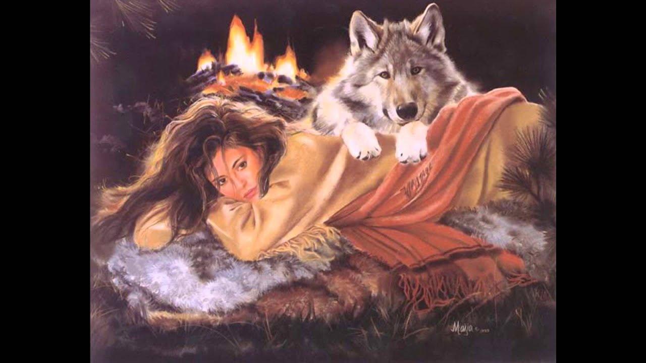 картинки девушки и волки
