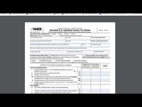 Tax Talk Episode 4 1040X (Amended U. S, Individual Income Tax