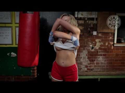 Babe Boxing in the Gym in Slow Motion