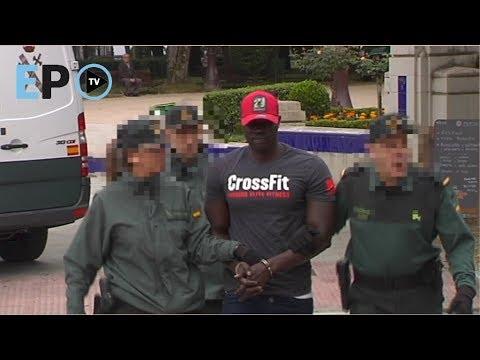 Así fue la llegada de Ibrahima a la Audiencia de Lugo