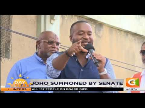 Hassan Joho summoned by senate