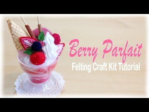 Strawberry Parfait Sundae - Japanese Felt Crafting Kit Tutorial