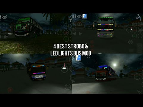 #Bussid Bus simulator indonesia game in top 4 Best strobo and led light bussid mod!
