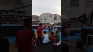 Ninja Warrior Mall @ Alam Sutera  Gokil Pesertanya Gaya Kodok