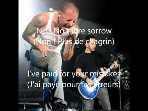 linkin park no more sorrow paroles + traduction francaise