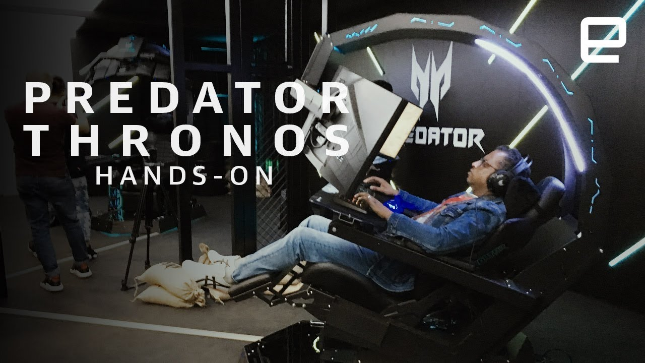 Ergonomic Chair With Footrest Kids Plush Acer's Predator Thronos Gaming Is Truly A Throne For Gamers