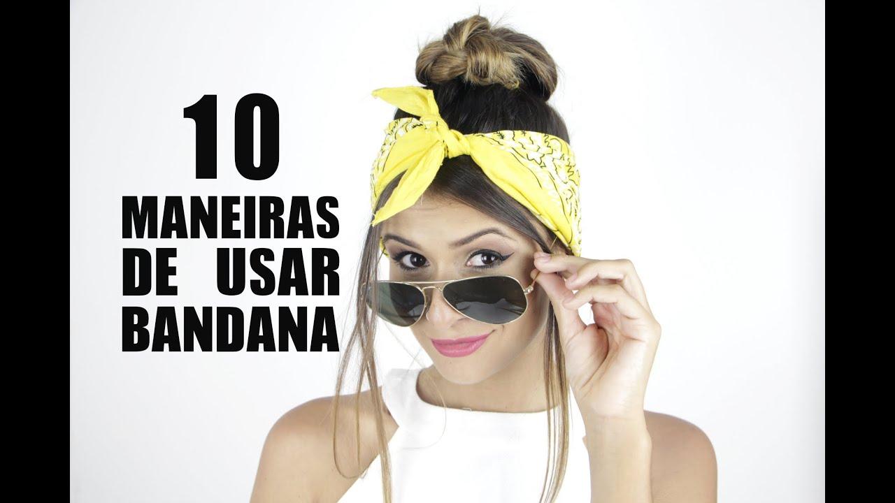 10 maneiras de usar BANDANA - Estilo tumblr - YouTube