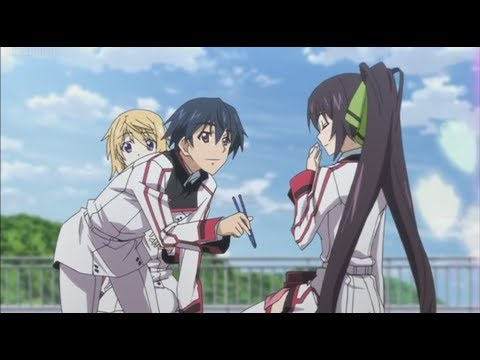infinite stratos ichika feeding indirect kiss to houki