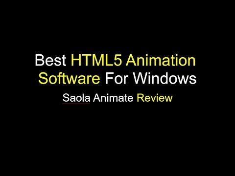 Best HTML5 Animation Software For Windows
