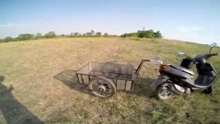 Прицеп для скутера-мопеда!!!(В этом видео Я постарался показать, описать, продемонстрировать изготовленный собственно ручно прицеп..., 2016-07-31T13:07:57.000Z)