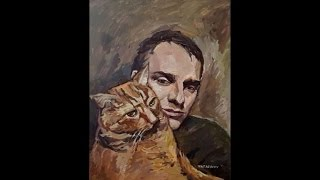 Самвел и кот Томас. Пишем портрет. Урок живописи.