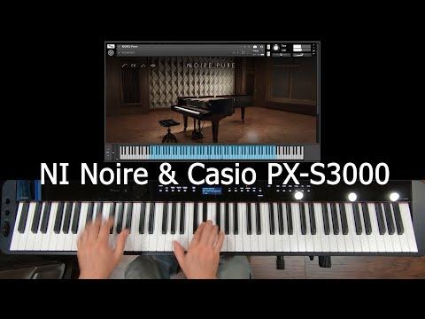 NI Noire & Casio PX - S3000 (Brahms - Rhapsody in G Minor Op.79 no.2)