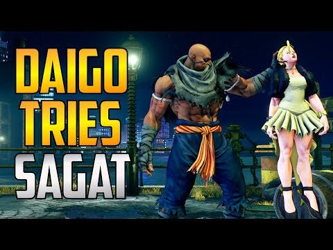 SFV ▰ Daigo Umehara Tries Sagat 【Street Fighter V】