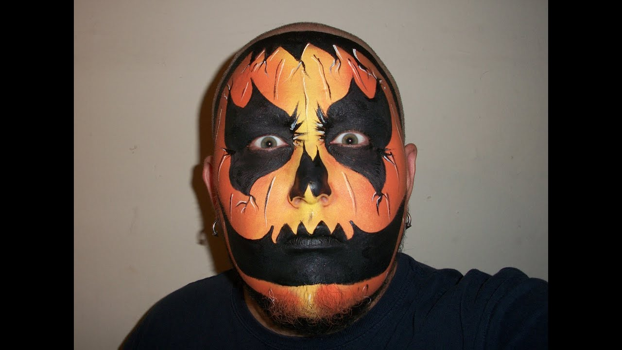 wicked pumpkin halloween face painting marvelous masks chicago face painter youtube