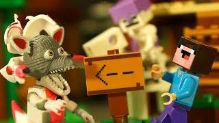 Нападение Армии Скелетов LEGO Minecraft - Лего НУБик Майнкрафт Мультики и ФНАФ FNAF