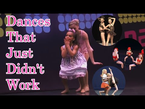 Dances that just DID NOT work//Dance Moms