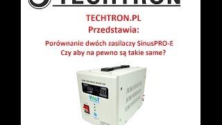 TECHTRON.pl Prezentuje: Porównanie Zasilaczy SinusPRO-800-E Czy są takie same? Kupuj świadomie !