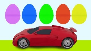 3d Animated Video For Kids | Learn Car Parts and Colors | MyToyTV