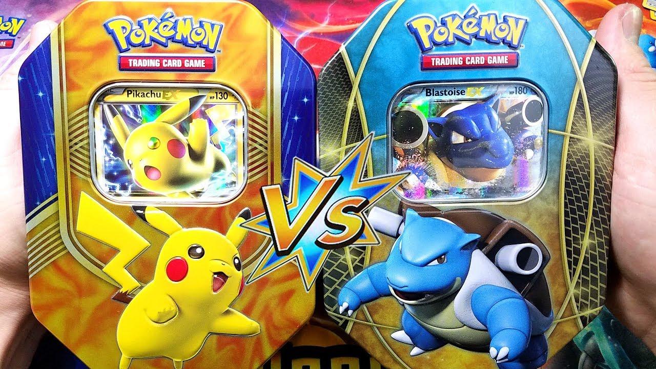I Love Pulling Mega Pokemon Cards Pikachu Ex Blastoise Ex Tin Opening
