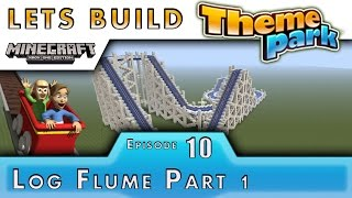 Minecraft :: Lets Build A Theme Park :: Squid Log Flume P1 :: E10