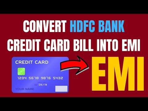 Hdfc bank credit card balance convert to emi