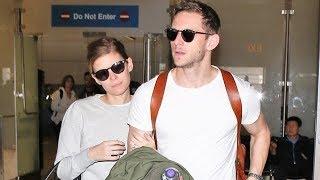 Kate Mara Holds Husband Jamie Bell Close At LAX