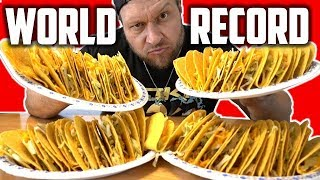 Most Hard Shell Taco Bell Tacos Eaten in 2 Minutes (NEW World Record)