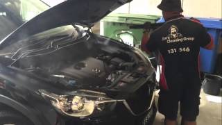 Steam Cleaning A Car Interior And Exterior Detail With Steam