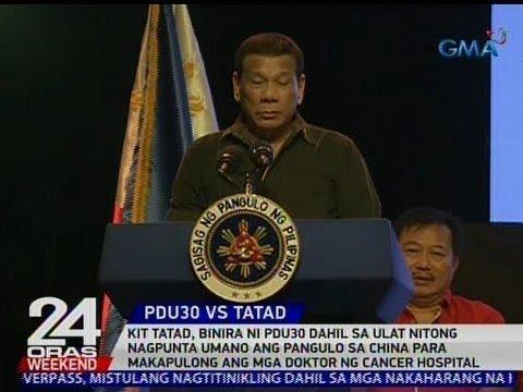 24 Oras: Kit Tatad, binira ni Pangulong Duterte