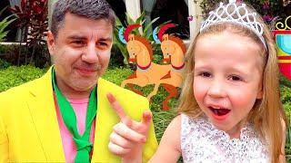 Nastya geht zum Prinzessin Ball