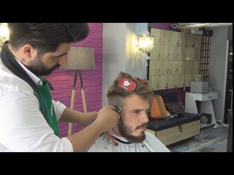 ASMR Turkish Barber Haircut And Beard Trim [Short Massage Included]