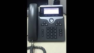 How to perform factory reset cisco phone 7821