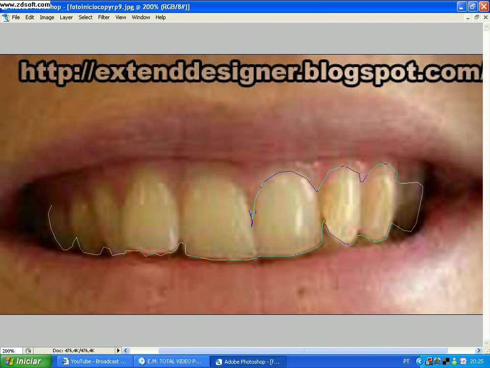 Como Clarear Os Dentes No Photoshop Youtube