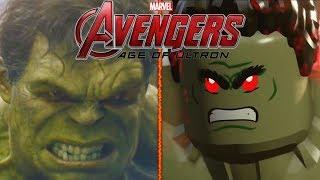 Лего мульт vs кино Мстители | Халк против Халкбастера | Hulkbuster vs Hulk [60 fps] Lego vs Movie