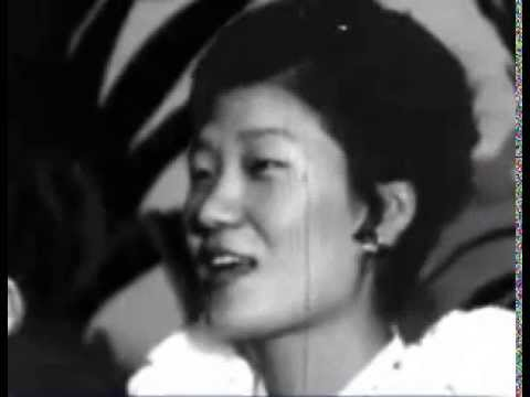 Park Geun Hye as a young woman in Hawaii