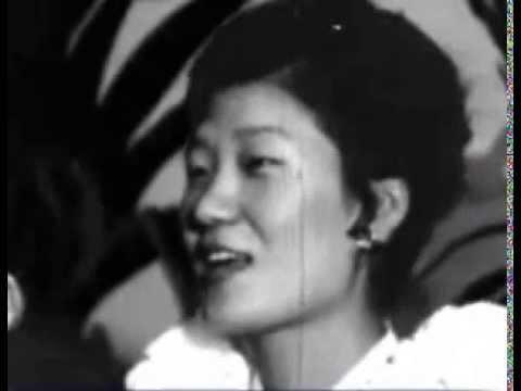 Park Geun Hye as a young woman in Hawaii