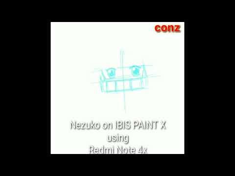 drawing nezuko via ibis paint x