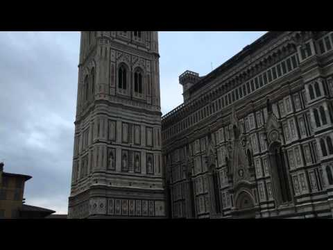 Bells Ring at the Basilica di Santa Maria del Fiore in Florence, Italy