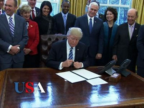 Trump Signs Order To Streamline Executive Branch | USA Election News 2016