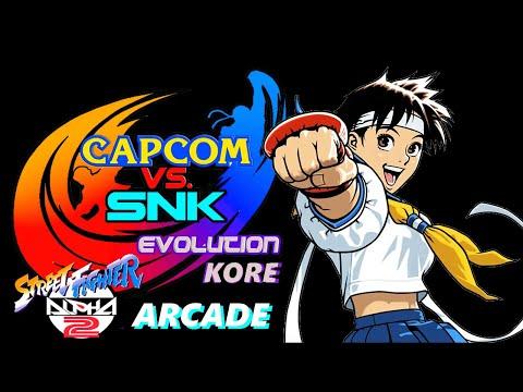 Street Fighter Alpha 2 Solo Arcade - Sakura Playthrough - Capcom VS SNK Evolution Kore