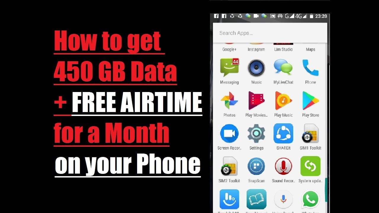 How to get 450GB Data and Free Airtime for a month