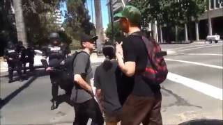 Antifa leader Yvette Felarca gives a lesson on White Privilege