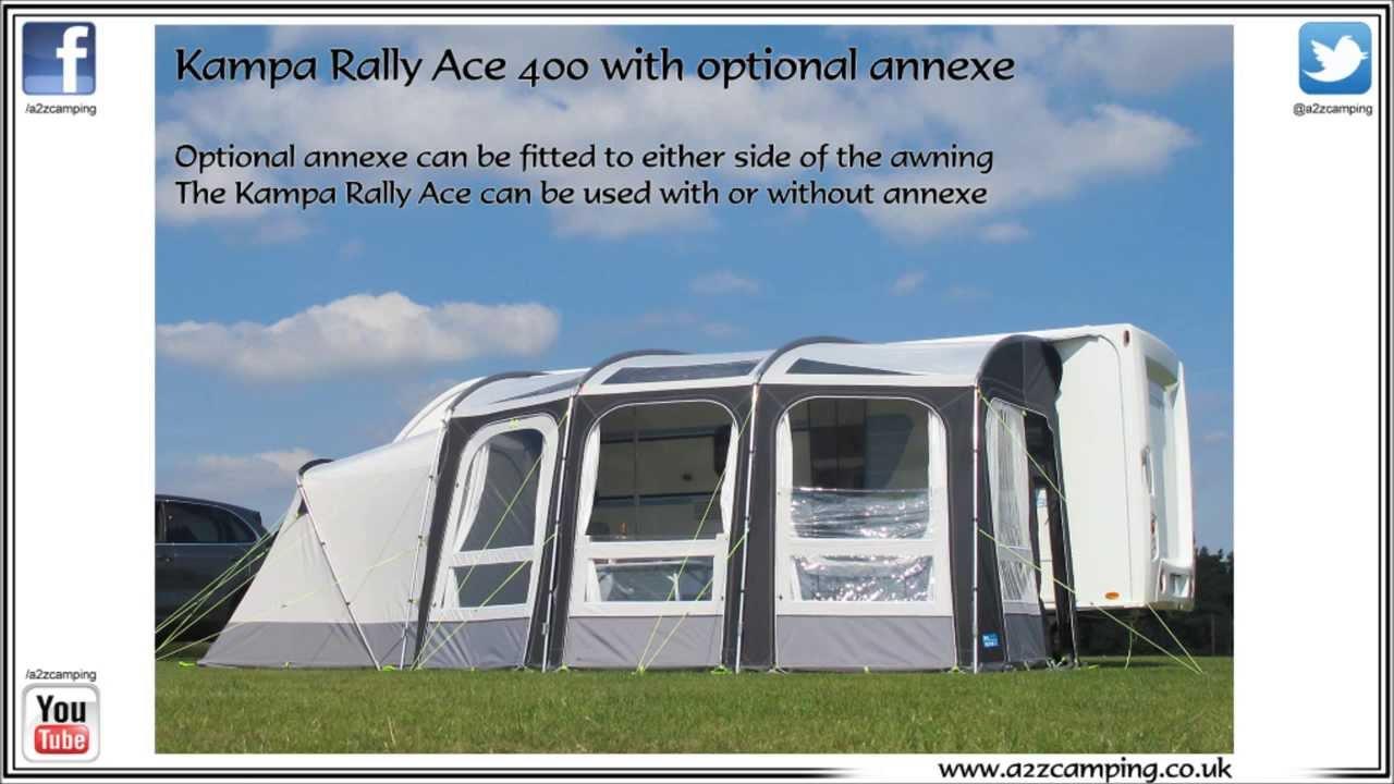 2014 Kampa Rally Ace 400 Hybrid Caravan Awning