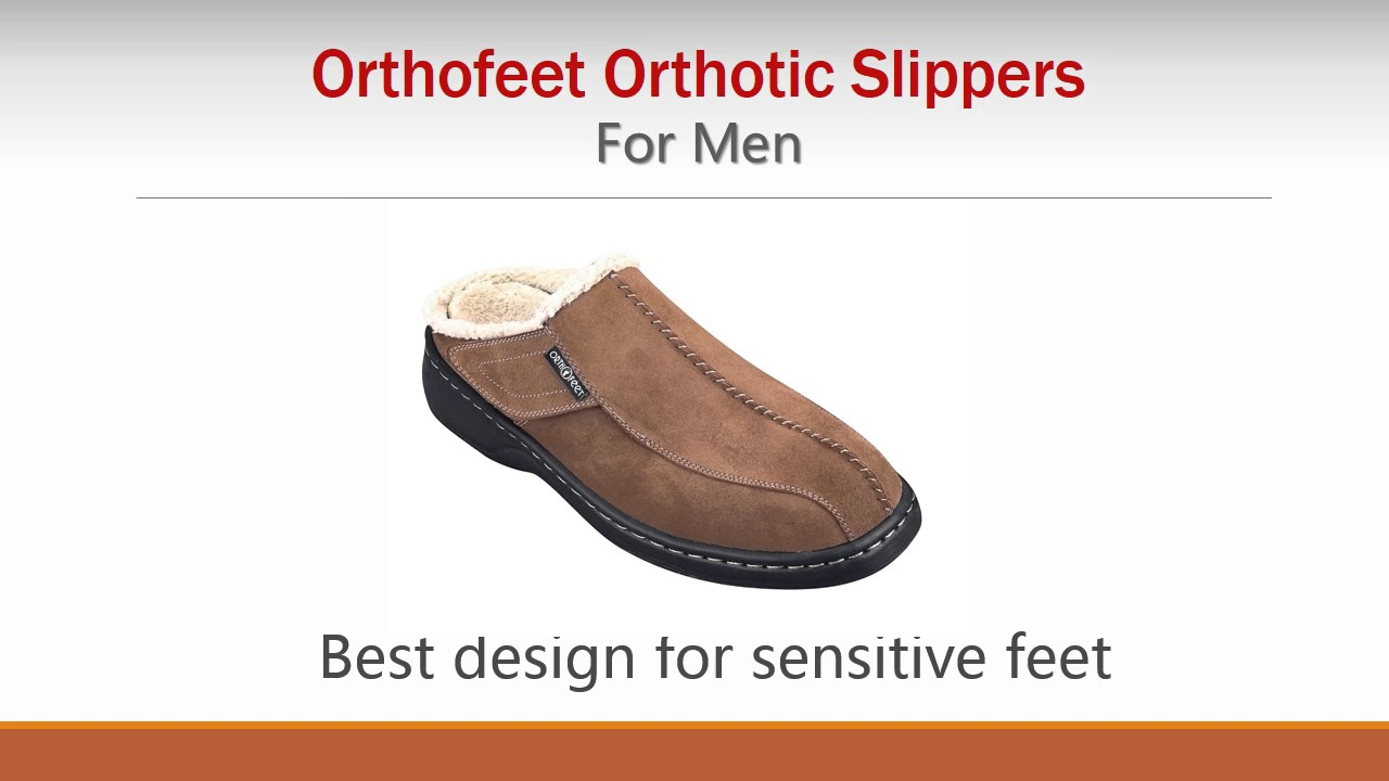 28f9322885 Orthofeet: Best Orthotic Slippers For Men - YouTube